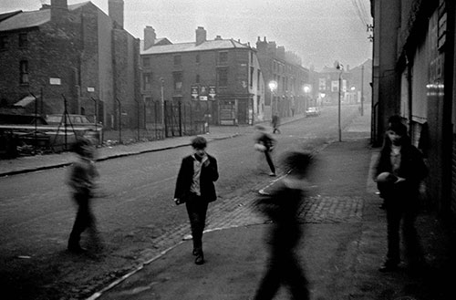 Street games at dusk,Hockley , Birmingham  (1966)