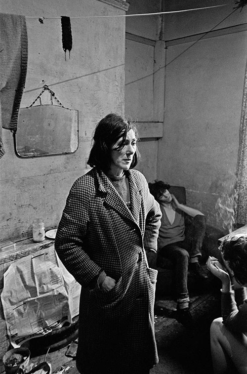 Mrs Moran living in a slum house West End, Newcastle  (1971)