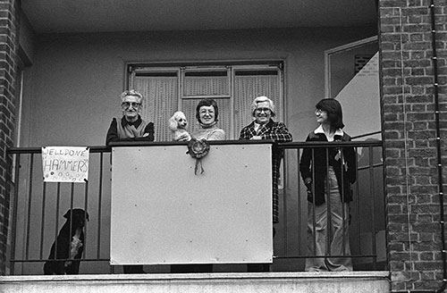 West Ham football supporters ,  (1976)