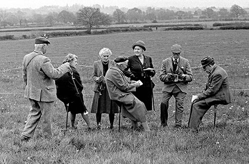 Spectators at a point to point meeting Herefordshire  (1967)