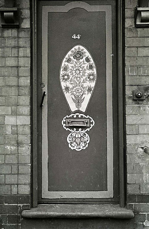Hand painted front door Saltley Birmingham  (1966)
