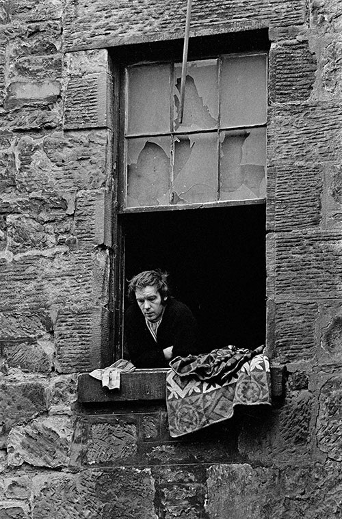 Unemployed coalminer living in a tenement, Maryhill Glasgow  (1971)