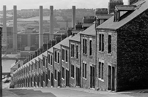 Street running down to the Tyne, Newcastle  (1970)
