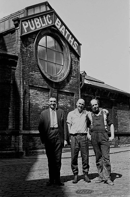 Workers at the Public Baths, Burnley  (1969)