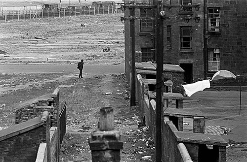Tenements and wasteland N Glasgow  (1971)