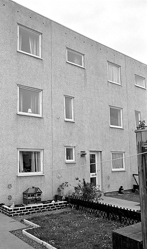 Front garden new housing Killingworth Northumberland  (1975)