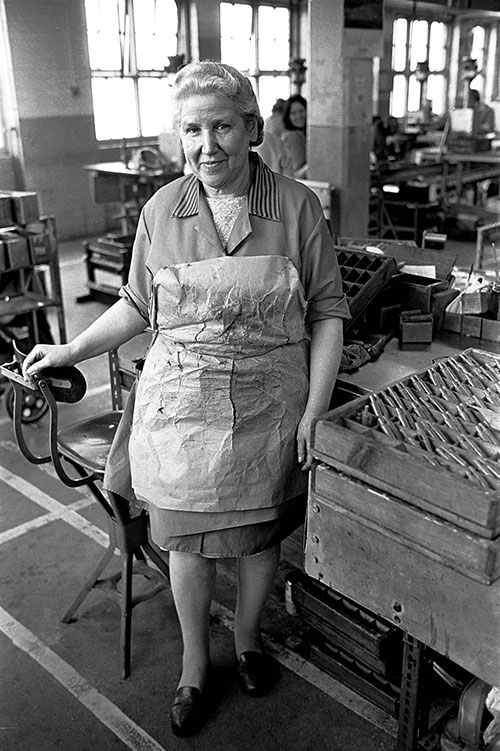 Hand made protective apron, Josiah Parkes lock factory Willenhall  (1976)