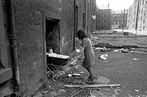 The last occupants of a Gorbals tenement Glasgow  (1970)
